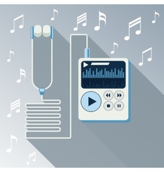 Playing music in Mp3 player vector image vector image