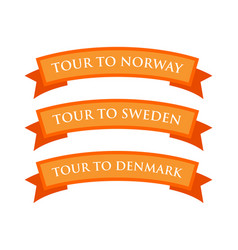 Tour to norway sweden and denmark vector