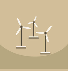 wind turbine alternative energy resource nature vector image