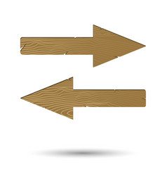 wooden arrow right and left isolated vector image