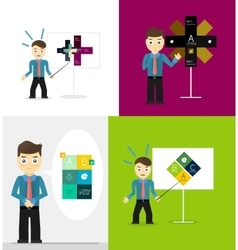 Young businessman presents his modern option vector image