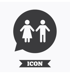 Toilet sign icon restroom symbol vector