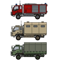 Small terrain trucks vector