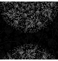 black background for text with white lacy pattern vector image
