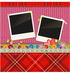 Vintage Photo Frames vector image