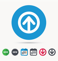 Upload icon load internet data sign vector