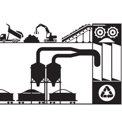 Recycling and processing of scrap metal vector