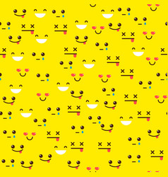 seamless pattern with emotions vector image