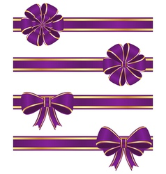 Purple ribbons vector