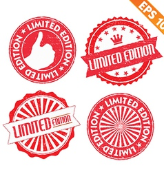 Stamp sticker limited edition collection - vector