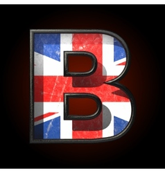 Great britain cutted figure b vector