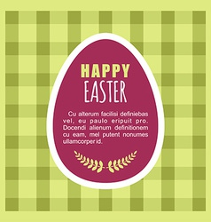 Happy easter greeting card template with flowers vector