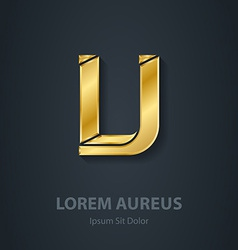 Letter v elegant gold font template for company vector