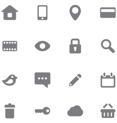 Set buttons and icons vector image