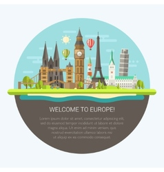 flat design composition with vector image
