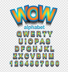 Colorful funny simple font for cartoon project vector
