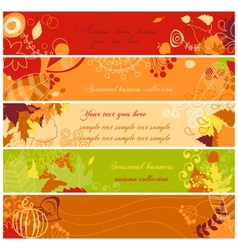 Autumn banners set vector