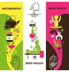 Alternative medicine banners set vector