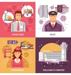 Airport Design Concept vector image