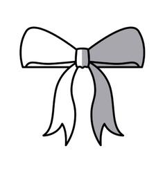 Bowtie of christmas season design vector