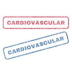Cardiovascular textile stamps vector