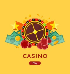 casino gambling website template vector image vector image