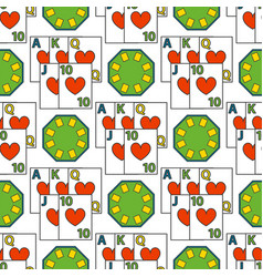 Casino game poker gambler symbols seamless pattern vector
