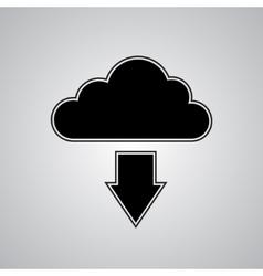 Cloud download vector image vector image