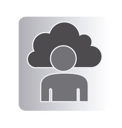 Cloud person technology icon vector