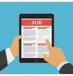 Concept of job searching vector image vector image