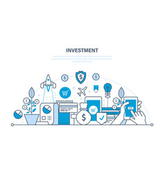 financial investments security of deposits vector image