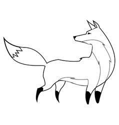 fox line icon vector image