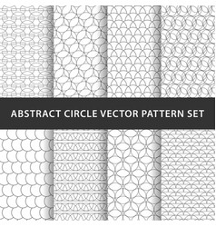 geometric circle pattern pack vector image vector image