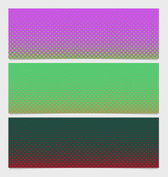Halftone dot pattern banner background - graphic vector