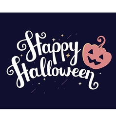 Halloween with text happy halloween and ora vector
