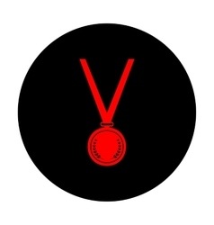 Medal simple Icon vector image vector image