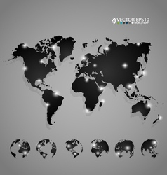 Modern world map design vector image vector image
