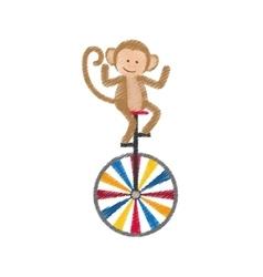 Monkey juggling cartoon vector