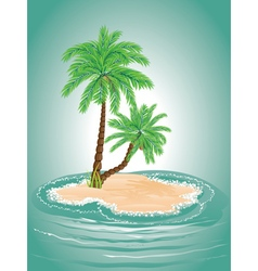 Palm Tree on Island2 vector image vector image