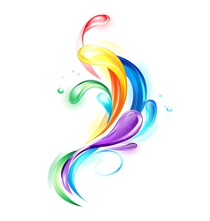 Rainbow Light Drops vector image vector image