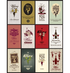 set wine vector image vector image