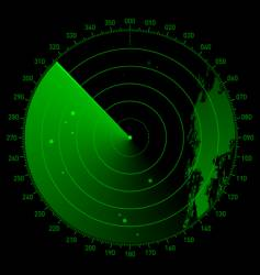 sonar scope vector image