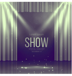 Stage with curtains in vintage colors vector