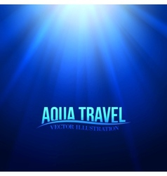 Underwater sunrays for aqua travel design vector