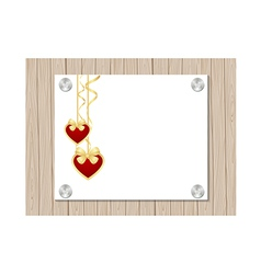 valentine fence vector image vector image