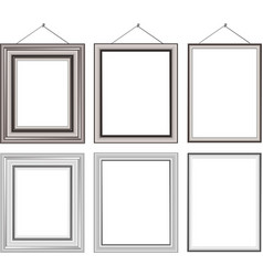 Wood Frame Set vector image