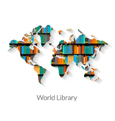 World Library vector image
