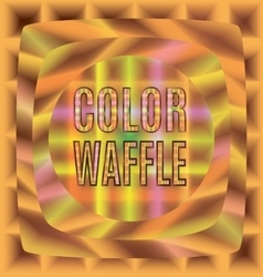 Colored waffles of different forms text vector