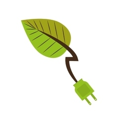 Leaf recycle envioment nature energy design vector