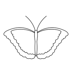 Butterfly scoop icon outline style vector